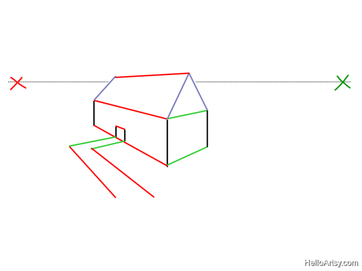 Two Point perspective Drawing: How To Guide - Step 19