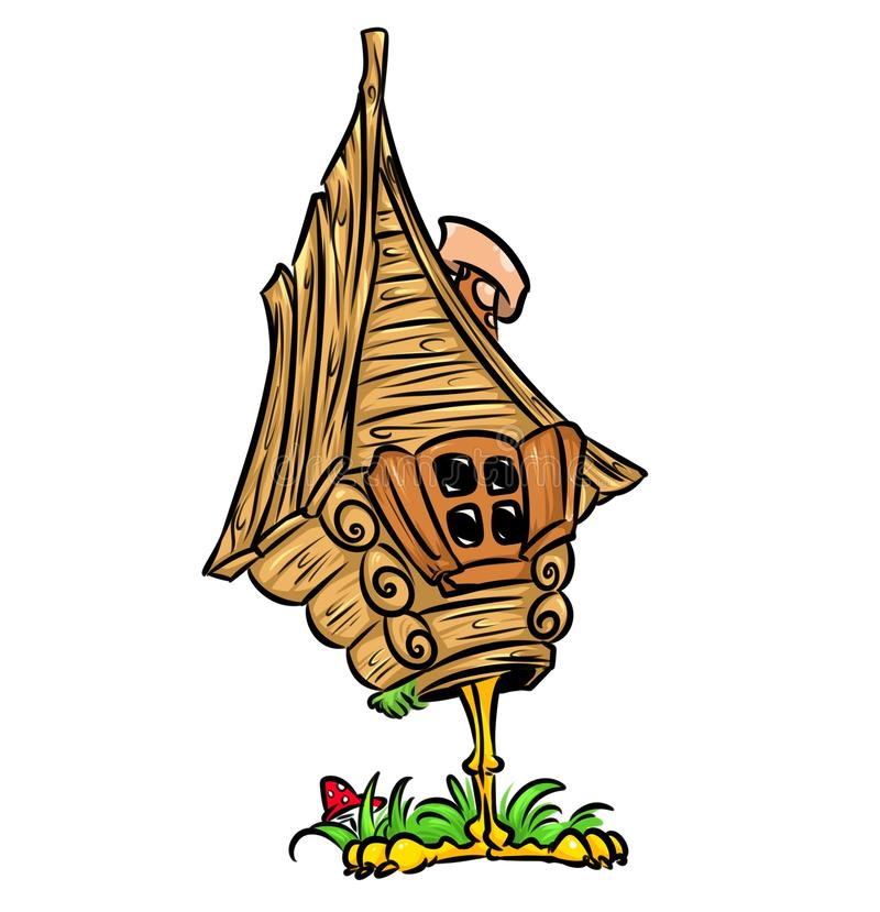 Hut chicken leg of Russian Fairy Tale royalty free illustration