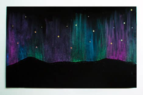 Finished northern lights drawing!