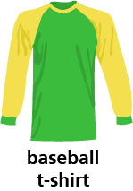 illustration of a baseball t-shirt
