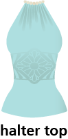 illustration of a halter top