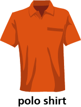 illustration of a polo shirt