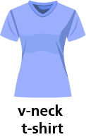 illustration of a v-neck t-shirt