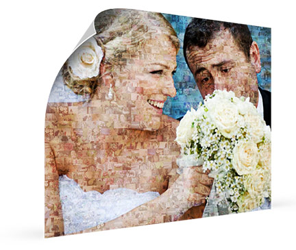 bridal couple-photo mosaic poster_view