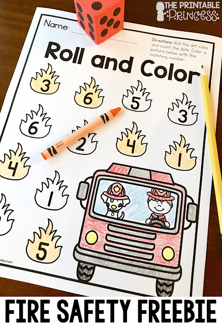 Looking for fire safety activities and centers for Kindergarten? Then you